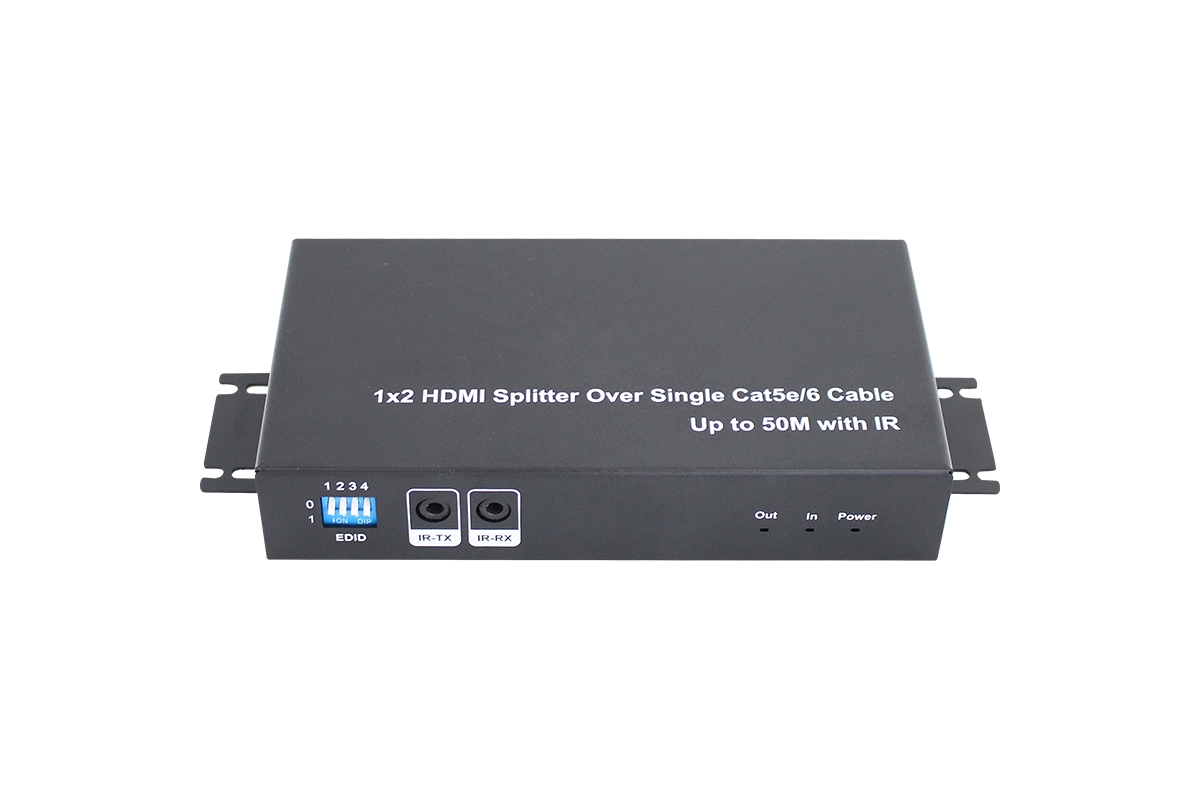 1x2 HDMI Splitter Over Single Cat5e/6 cable, Up to 50M with IR