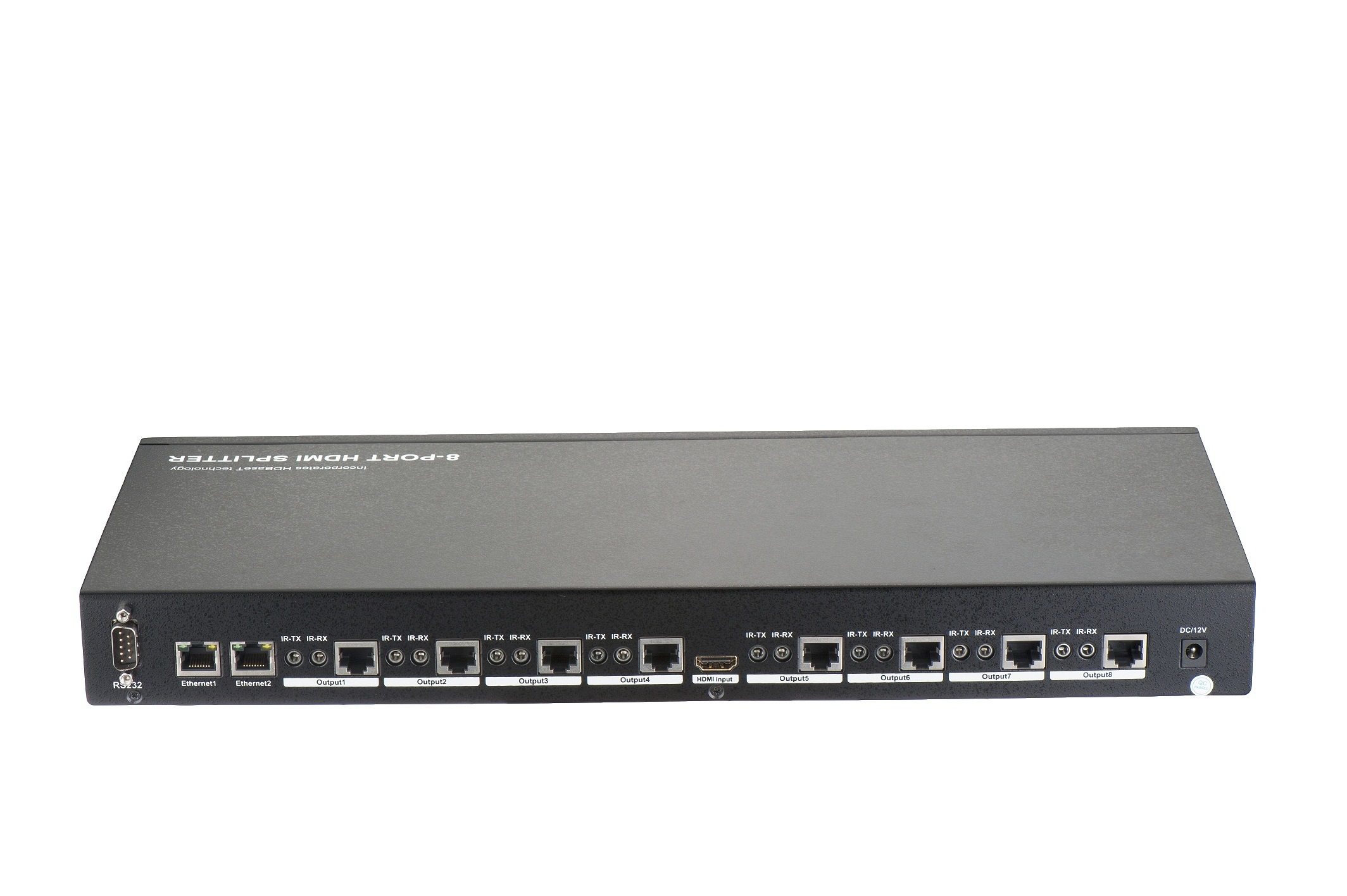 100m 1x8 HDBaseT Splitter , Ethernet, RS232, Bi-Direction IR, CEC, 4Kx2K