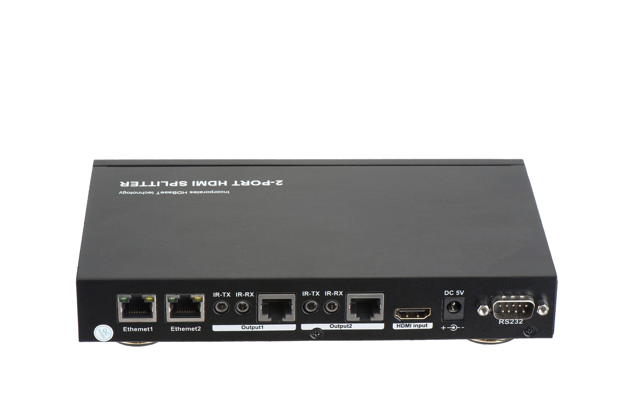 100m 1x2 Hdbaset Splitter Ethernet Rs232 Bi Direction