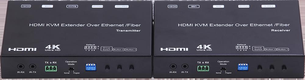 4K HDMI+USB KVM Extender over IP/Fiber_