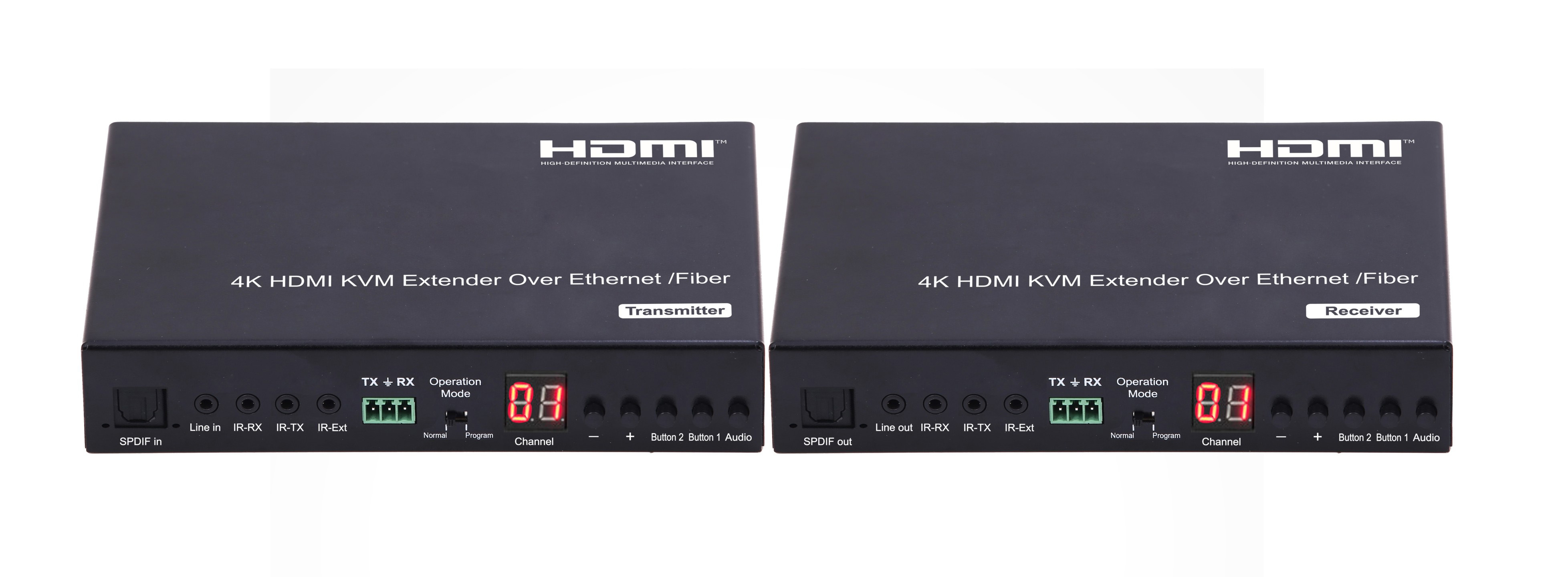 4K Low latency KVM HDMI Extender over IP/Fiber,With RS232, POE