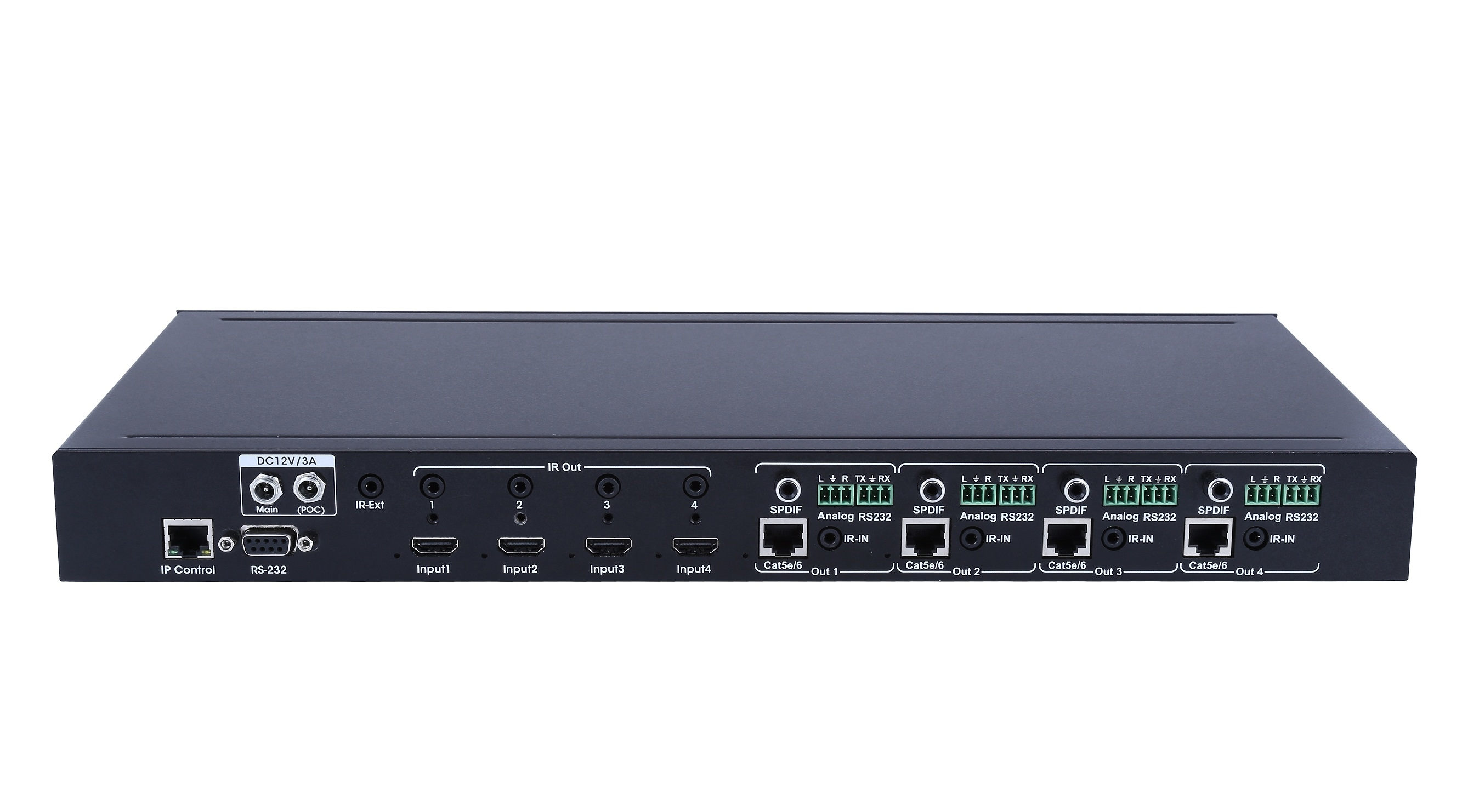 4k@60HZ, HDCP2.2 4x4 HDBaseT Matrix
