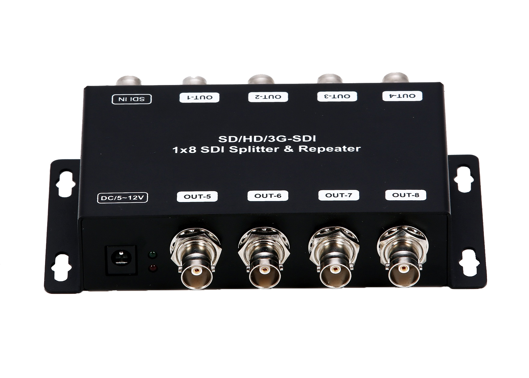 1x8 3G SDI Splitter & Repeater with Re-clocking function