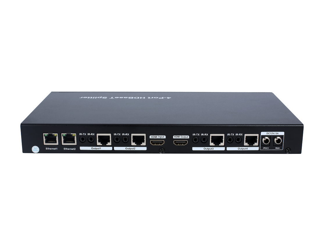 100m 1x4 HDBaseT Splitter, HDCP2.2, support POC, Ethernet, RS232 Pass through