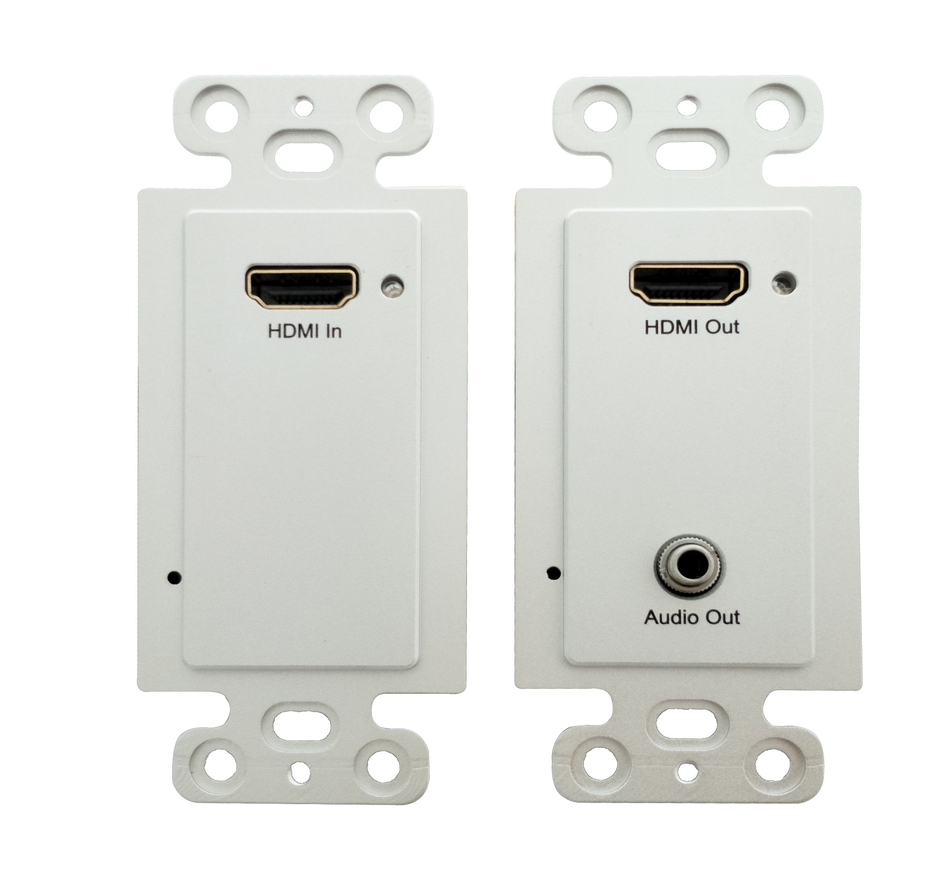 H.264 120m HDMI Wallplate Extender over IP with POE