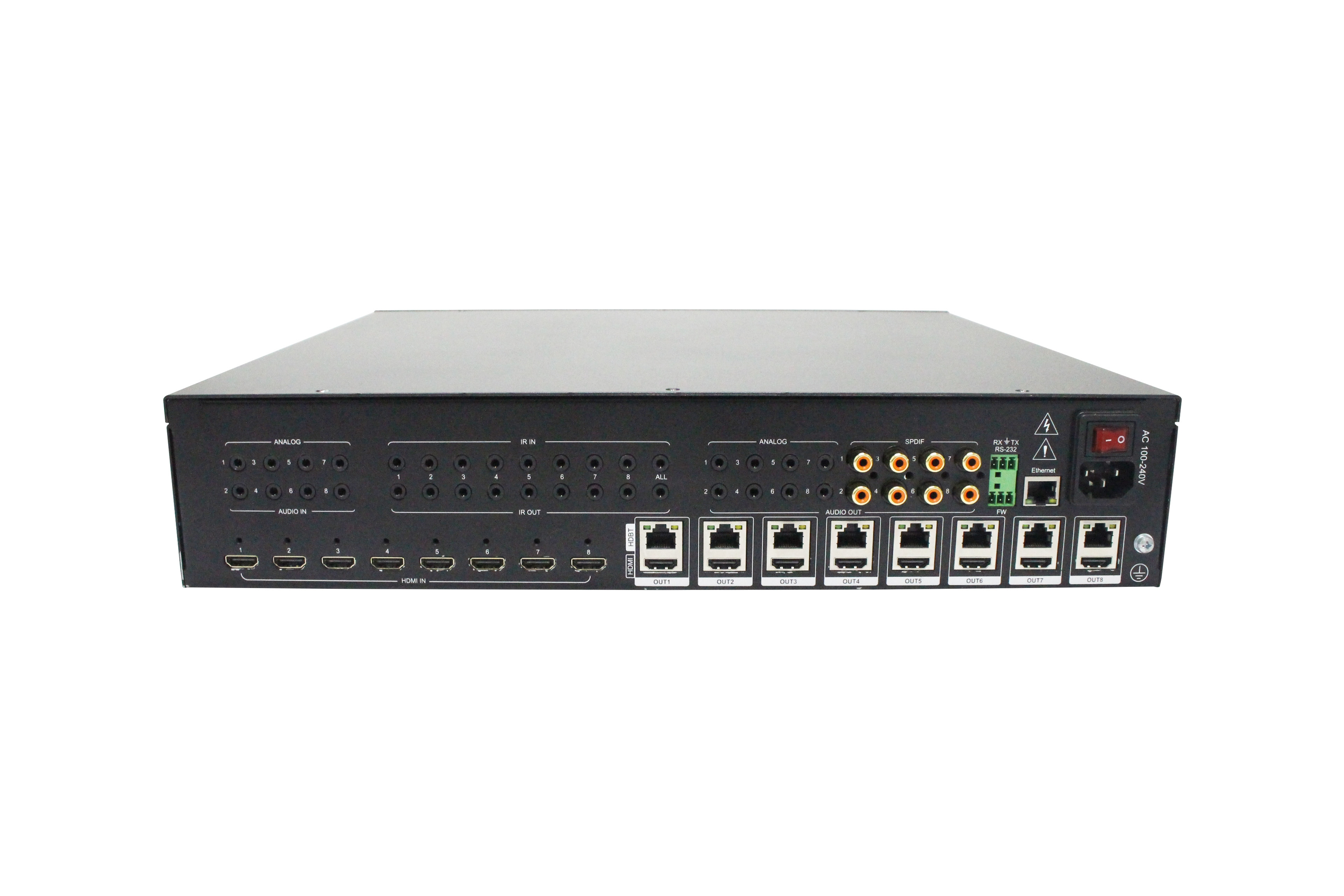 70m 8x8 HDBaseT Matrix, Support 18G, HDR, 4K2K@60Hz, YUV 4:4:4