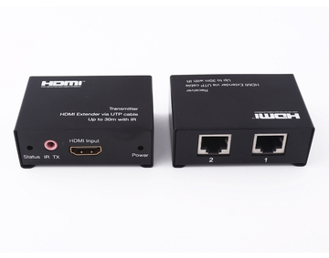 30m HDMI Extender over dual cat5e/6 cable supports 3D & CEC