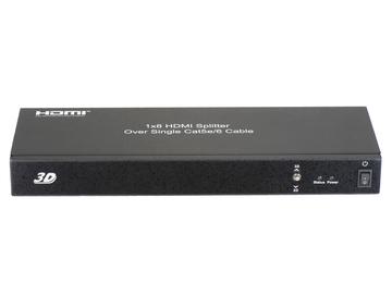 1x8 HDMI Splitter over single Cat5e/6 cable