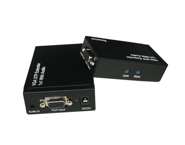 300m VGA UTP Extender 1x1 Splitter with Audio