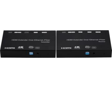 60KM Ultra HD 4K HDMI Extender over Fiber / IP, POE