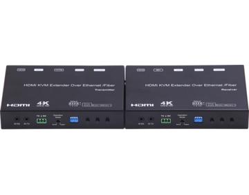 4K HDMI+USB KVM Extender over IP/Fiber