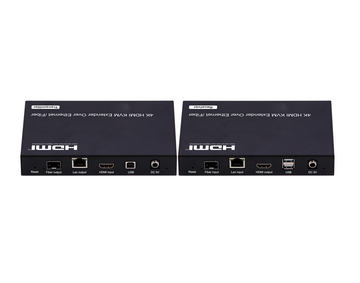 4K Low latency KVM HDMI Extender over IP/Fiber,With RS232, Remote, LED