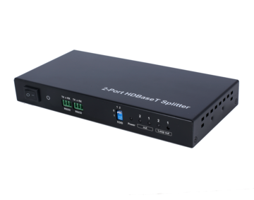 70m 1x2 HDBaseT Splitter, HDCP2.2, support POC, RS232 Pass through