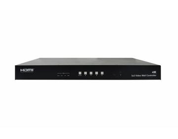 HDMI 3X3 4K Video Wall Controller with USB TYPE-C/VGA / DP/ HDMI Inputs