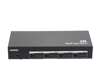 4x4 HDMI Matrix with RS232, supports 4Kx2K