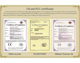 CE and FCC certificates