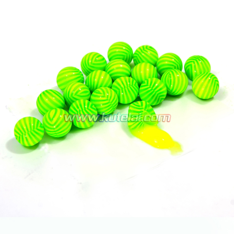 Watermelon Stripe 0.68 inch paintball made with gelatin&PEG