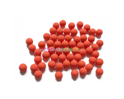 Orange 0.68 Inch Reusable Natural Solid Rubber Ball