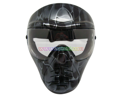 Black Anti Fog Full Face Tactical Protective Safety Paintball Mask