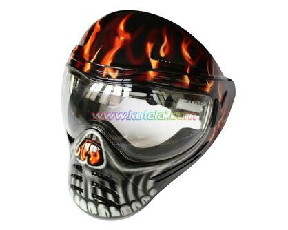 Red Save Phace Full Face Anti Fog Paintball Mask