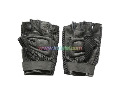 玄色半截防护手套