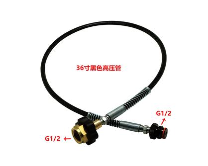 36寸黑色弹簧高压管带接头