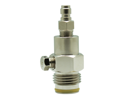 Tippmann Straight Gas Line Tank Adapter with Quick Disconnect and 3k Burst Disk