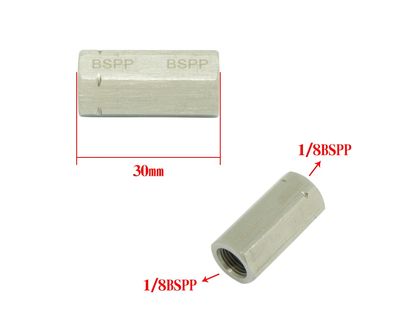 Pipe Adapter Reducing Coupler Reducer Union Connector Both Thread 1/8BSPP
