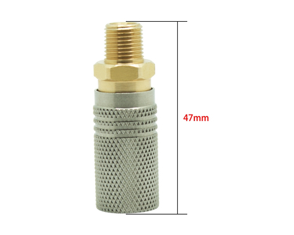 Extended Quick Coupler Socket 1/8NPT 1/8BSPP M10*1 Thread - US Standard C02 HPA